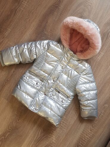 Зимняя детская куртка для девочки (Англия). На возраст 1.5-2 года, на