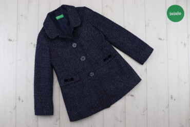 Верхняя одежда - Синий - Киев: Дитяче пальто з люрексовою ниткою United Colors Of Benetton, зріст 120