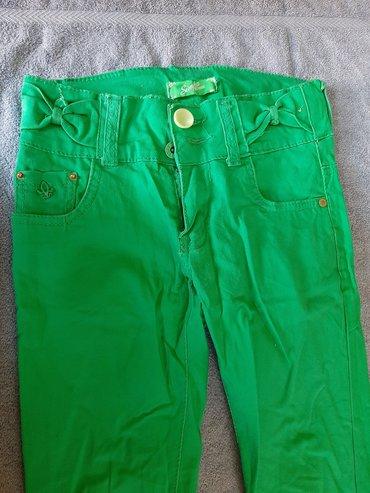 Pantalone za devojciceVelicina 10Duzina 80, sirina struka 28, sirina