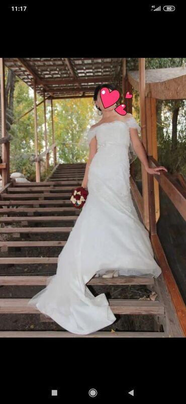 платья корсеты в Кыргызстан: Продаю свадебное платье. Одевала сама. Элегантное платье с длинным