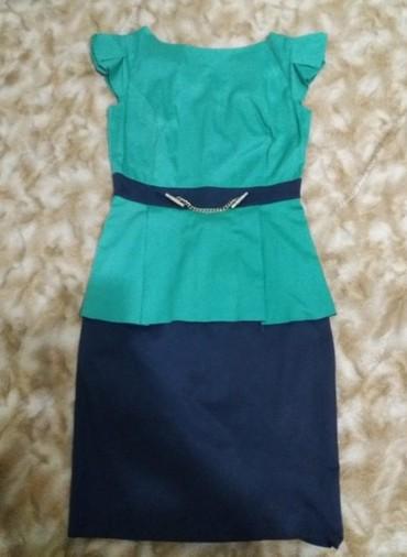 льняные вязаные платья в Кыргызстан: Продаю женские платья. турция!!!1. сине-зеленое платье. размер 36.2