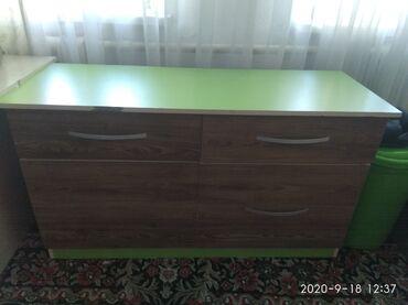 Тумбы - Кыргызстан: Комод вместительный 2 больших ящика2 маленьких состояние отличное