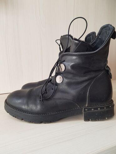Мужская обувь - Джал: Ботинки кожанныеутепленные, р 37