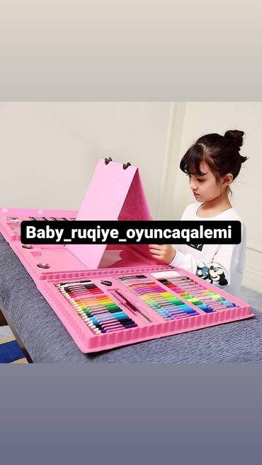 Dəftərxana malları - Azərbaycan: 208 ədedli rusiya isdesali olan orjinal resim seti boyalar fırça sulu