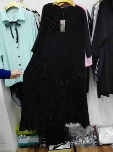 спортивные платья больших размеров в Кыргызстан: Очень красивое платье больших размеров,от 56 по по 66 по 2500,наличие