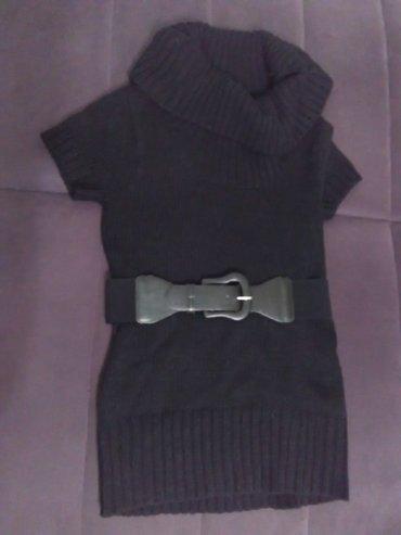 Crni džemper sa kaišem, kratak rukav, m - Belgrade