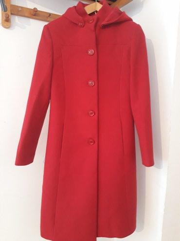Кашемировое, ярко-красное пальто, в Бишкек