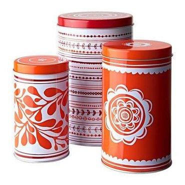 Другие товары для кухни в Кыргызстан: Новые наборы из 3-х жестяных банок от икеа!!! удобно хранить чай, кофе