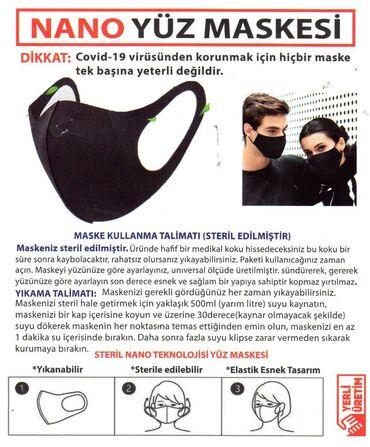 75 elan | TIBBI MASKALAR: NANO maskalar,Türkiyə istehsalı,Qara rəng,Az sayda qalmaqdadır.28 may