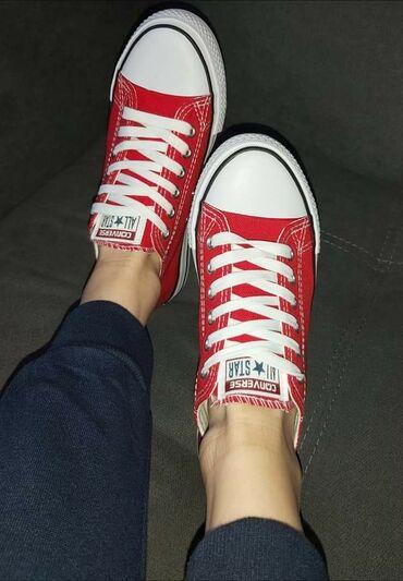 Ženska obuća | Sokobanja: Preedobre crvene starke 🥰🥰🥰Udobne, lake, kvalitetne, izdrzljive