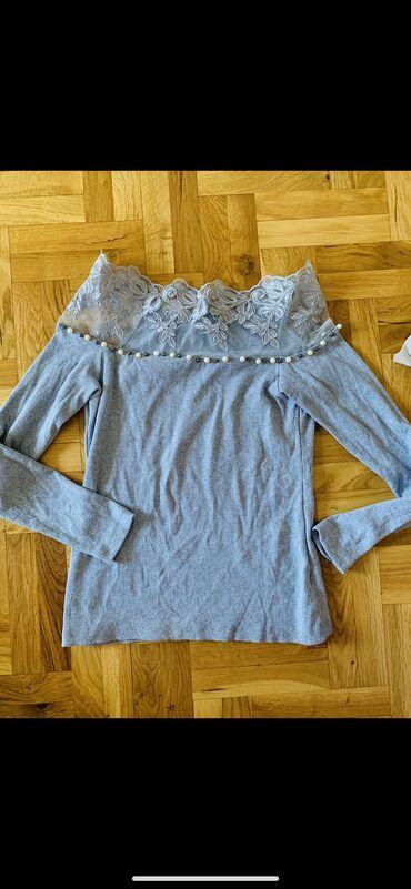 Denistar-farmrke - Srbija: Nova majica, nikad nosena. preslatko stoji ima cipku i bisere