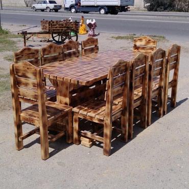 Masa ve oturacaqlarin hazirlanmasi