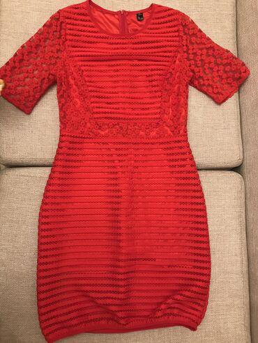 вечернее платье до колен в Кыргызстан: Платье красное, длина до колен, Влади молния,очень хорошо подчеркивает