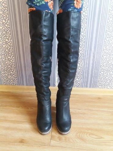 сапоги-кож-зим в Кыргызстан: Зимние кожаные ботфорты,фирменные,почти в идеальном состоянии,размер