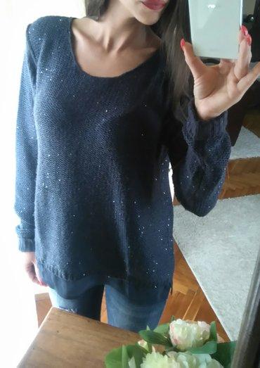 Esmara knit bluza sa perlama. Tamno tamno teget boja. Nije iznosana, - Novi Sad