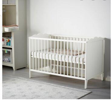 ikea v bishkeke в Кыргызстан: Кроватка детская IKEA, с матрасом! И балдахином!