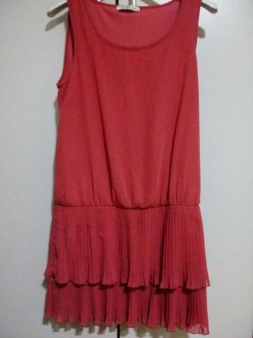 Kosulja-haljinica-pre-stoji-markirana - Srbija: Haljinica Nova,prelepo stoji. crveno-roze