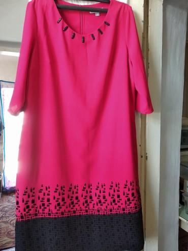 туника трикотажная с длинным рукавом в Кыргызстан: Платье, рукав три четверти, пр-во Турция, размер 52-54, б/у, в