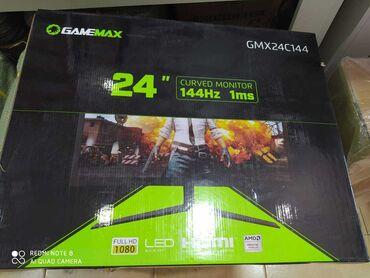 "Monitorlar Azərbaycanda: 23.6"" Curved Monitor 144HZ (GMX24C144) LED Panel (SEC PLS)Display Siz"