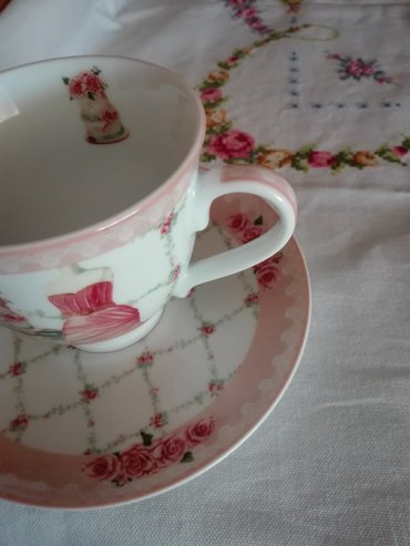 Fine vintage porcelain cup and saucer  collectible  box included σε Περιφερειακή ενότητα Θεσσαλονίκης