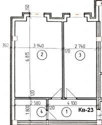 Продается квартира: 1 комната, 56 кв. м