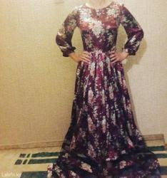 Новое! Платье атлас. Размер 42-44. Длинное в пол. в Бишкек