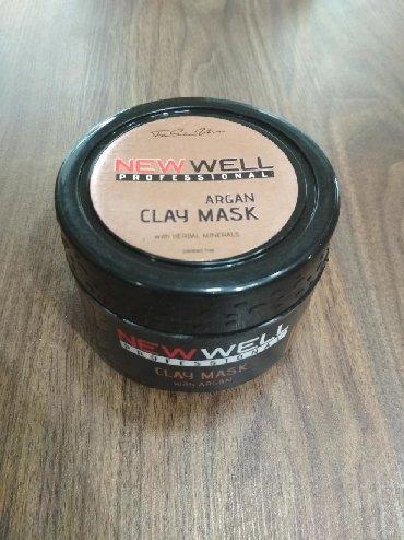 Vulkanik Argan Uz Maskasi:cildi derinden temizleyir ve uzunuzde olan