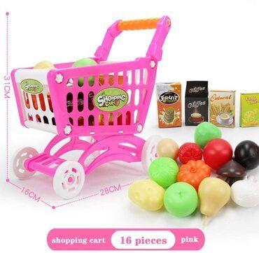Market kolica za devojčice + 15 dodataka  Cena 1050 din  Market kolica