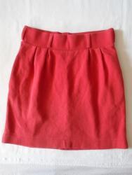 Suknja struka od - Srbija: Mango, postavljena, punija zimska suknja od 100% pamuka. Očuvana, bez