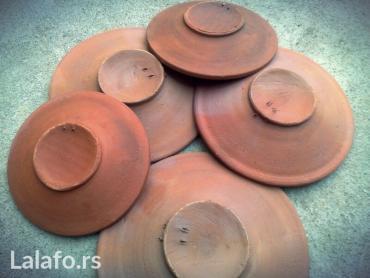 TANJIRI OD GLINE    Ručno pravljeni tanjiri od gline, prečnika su od 1 - Leskovac