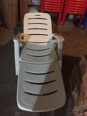 Шезлонг, кресло шезлонг. Имеет 4 положения. Материал пластик
