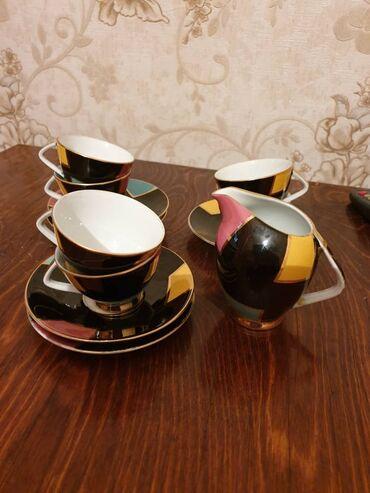 Кофейный сервиз. Фарфор, германия 6 персон. Есть дефект.Очень легкий