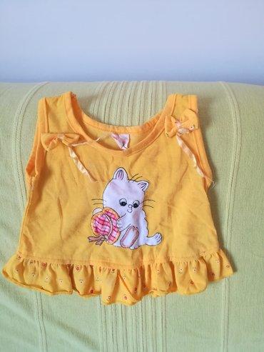 Dečiji Topići I Majice | Vranje: Majica bez rukava žute boje za bebe do 1 godine, obim ispod pazuha 48