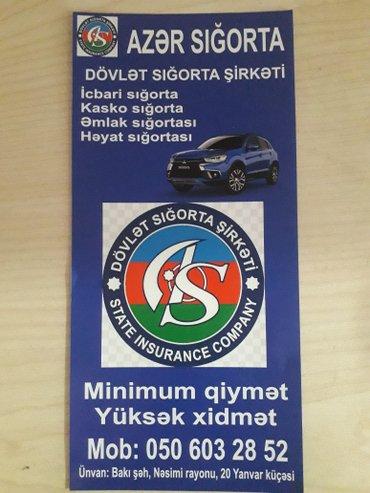 Bakı şəhərində Icbari sigorta ve butun sigorta xidmetleri
