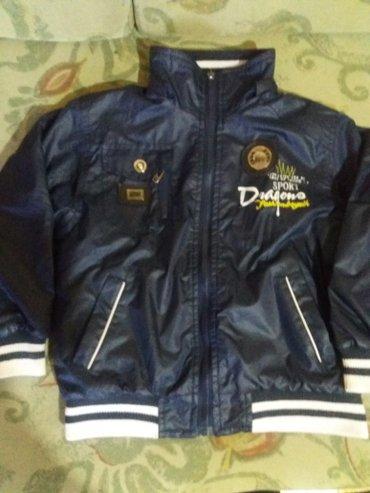 Decija teget jaknica za prolece-jesen sa dva lica nepropusta kisu i - Vrnjacka Banja
