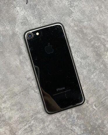 apple iphone a в Кыргызстан: Б/У iPhone 7 32 ГБ Черный