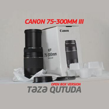 audi coupe 22 gt - Azərbaycan: Canon EF 75-300mm f/4-5.6 III Linza (Lens, obyektiv) təzədir (Open-box