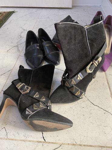 sapogi zhenskie 37 razmer в Кыргызстан: Продам обувь каждую пару отдам по 500 сом, ботильоны Италия, чёрные ло