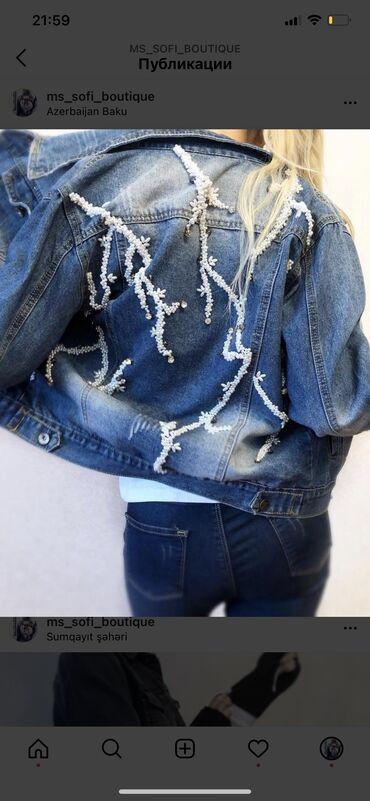 Yeni jeans kurtka el ishidir