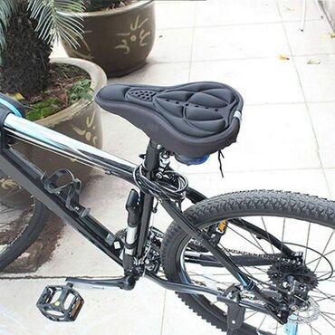 Navlaka za sediste bicikla od silikon gela (crna i crvena)Prijatan