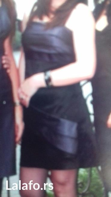 Satenska haljina,velicina s,jednom obucena
