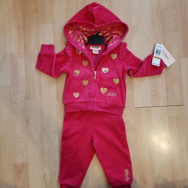 Ostala dečija odeća | Sombor: JUICY COUTURE, original iz Amerike, nova ciklama plisana trenerka vel
