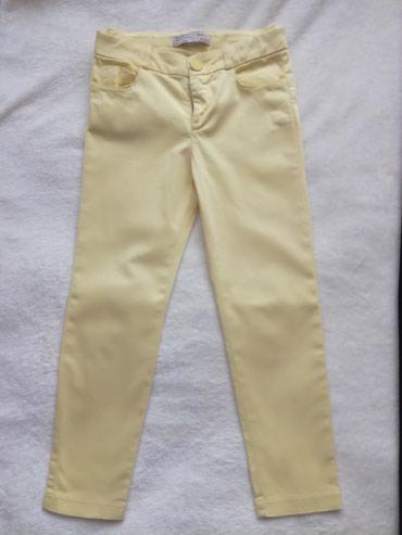 Zara pantalone za devojčice.Boja svetlo žuta.Veličina 6-116. - Belgrade
