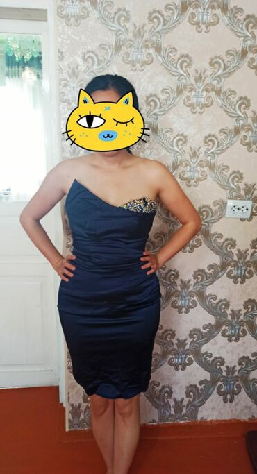 вечернее платье темно синего в Кыргызстан: Продаю платье-производство Франция .Фирма Jador'e.Одето 1раз.Состояние