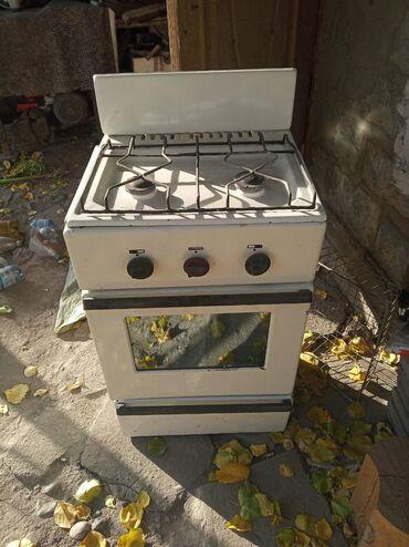 Плиты и варочные поверхности - Кыргызстан: Продаю газ плитуДлина 52 смГлубина 45 смВысота 83 смЖиклёр на газ