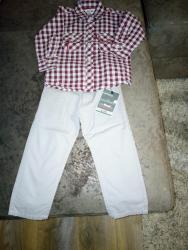 Dečije Farmerke i Pantalone | Zrenjanin: Pantalone i košulja za dečaka - NOVO