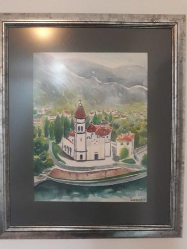 Slika akvarel-crkvice - Nis