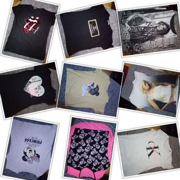 Personalni proizvodi | Nova Pazova: U paketu ima 9 pamučnih majica lepo očuvane vels/m cena je za paket mo