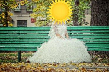 Дам в аренду свадебное платье,  сшитое в Бишкек - фото 4