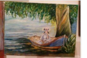 Slike   Sopot: Ulje na platnu.Bogat nanos boje.40x30. Autorka Iv. Tel